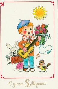 MDŽ 8.března - Hudba kluk a zajíc