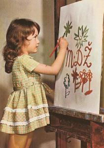8.březen MDŽ - Dívka maluje