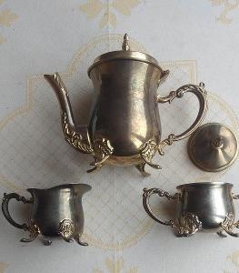 Kovový kávový/čajový set