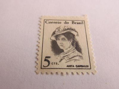 Prodávám známky Brazílie 1967, Slavné osobnosti - Anita Garibaldi