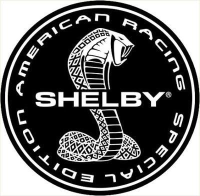 SHELBY, AMERICAN RACING, SPECIAL EDITION, bílá samolepka pr.3-(2x).