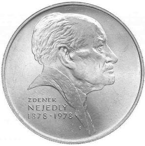 Vzácná stříbrná 50 Kčs mince 1978 Zdeněk Nejedlý, perfektní stav Ag13g