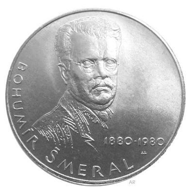 Vzácná stříbrná mince 50 Kčs 1980 Bohumír Šmeral