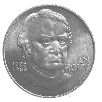 Ag 100 koruna 1985 - 200. výročí narození Jána Hollého, perfektní stav