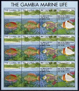 Gambie-Ryby 1995**  Mi.TL2078-2081 / 39 €