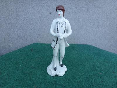 starožitná porcelánová soška -  ROYAL DUX  - dáma