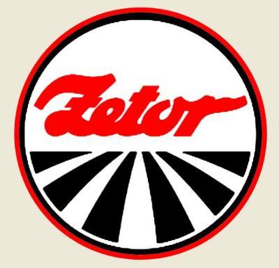 Zetor, logo typu, bílá samolepka pr.3-(2x).