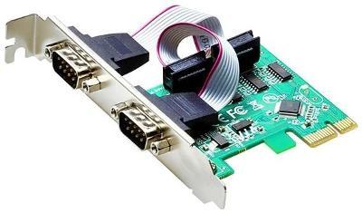 Nový Adaptér 2x sériový RS232 port do PCI-e slotu