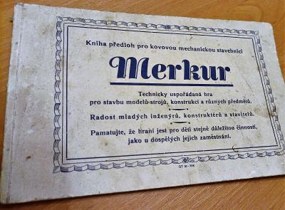Merkur - stará kniha předloh pro kovovou mechanickou stavebnici