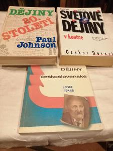 Dějiny - tři knihy