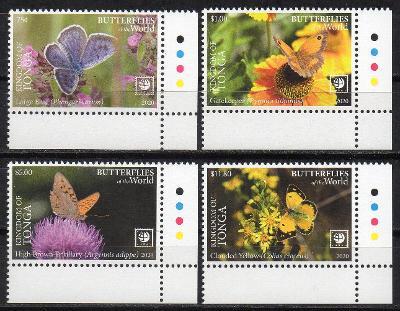 Tonga-Motýli 2020** Mi.2351-2354 / 185.-Kč