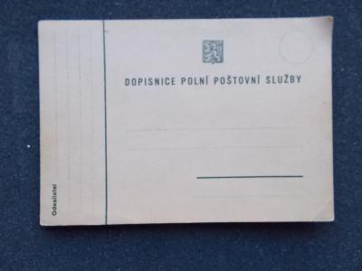Dopisnice Polní pošta mobilizace armáda První republika