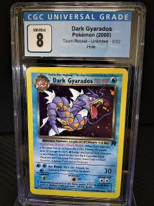 Dark Gyarados Team Rocket CGC 8 NM MINT z roku 2000