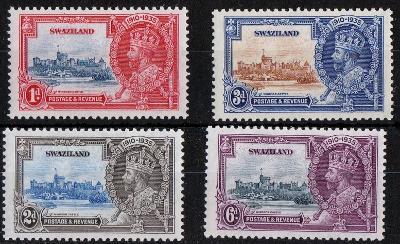 britský Swaziland 1935 * George V výročie komplet mi. 20-23