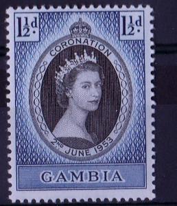 britská Gambia 1953 ** korunovácia komplet