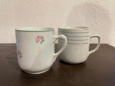 Dva staré porcelánové hrnky - značeno Czechoslovakia