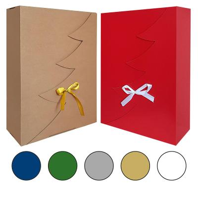 Dárková krabička Vánoce vánoční strom ECO 35 x 25 x 10 reklamní balení