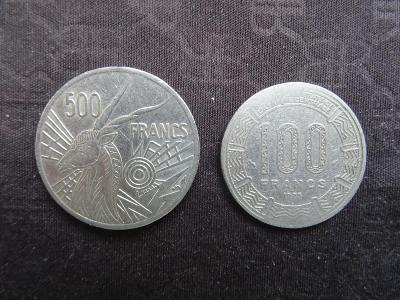 Pepublika CONGO 100 franks 1975 + 500 franks 1977