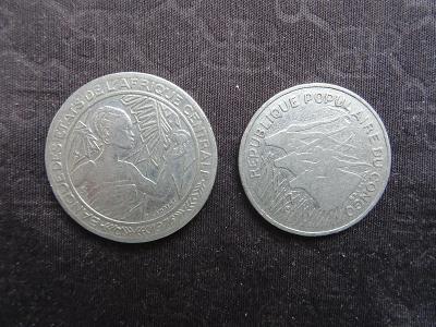 Pepublika CONGO 100 franks 1975 + 500 franks 1976