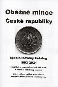 Oběžné mince České republiky 1993-2021, Praha, 1.vyd. ENA - NOVINKA!!!