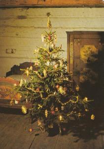 Vánoce za oknem,vánoční stromek