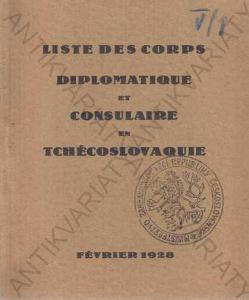Liste des Corps Diplomatique Tschécoslovaque 1928
