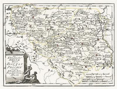 Reilly .: Klatovy  Čáslav a Prachěń, mědiryt 1789