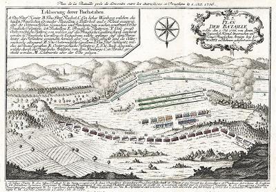 Raspe.: Lovosice bitva 3., mědiryt 1764