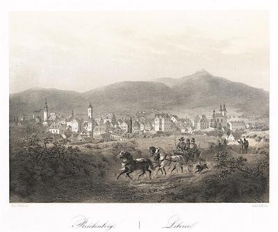 Liberec, Haun, litografie, 1860