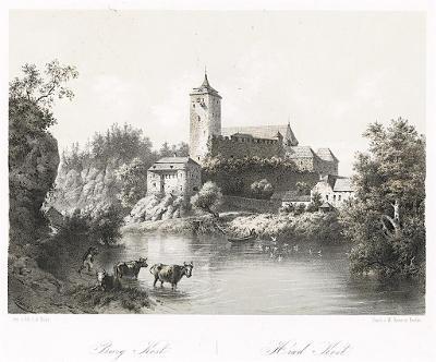 Kost, Haun, litografie, 1860