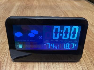 Digitální hodiny s teploměrem