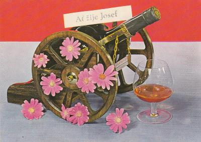Ať žije Josef - Dělo,korbel,kalendář a koule 6x(retro)