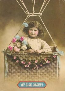 Ať žije Josef - Dívka v baloně a zajíc 2x(retro)