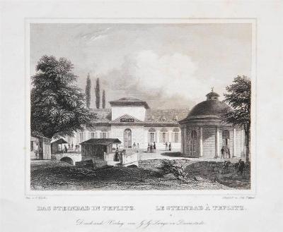Teplice Steinbad, Lange, oceloryt, 1842