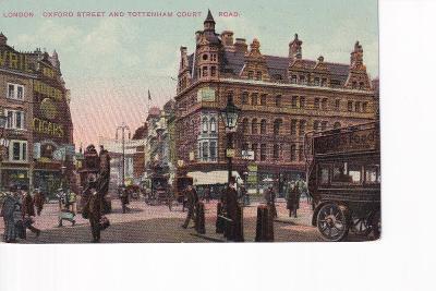 Londýn-Anglie-Oxford Street-Tottenham Court-oživená-doprava- MF