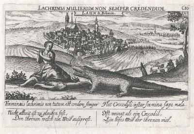 Louny, Meissner, mědiryt, 1678