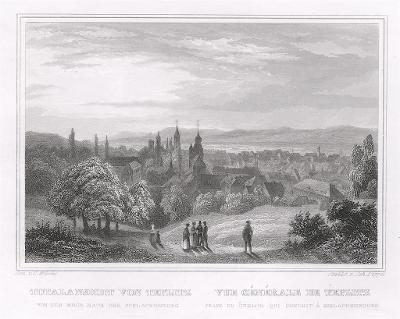 Teplice – celkový pohled, Schimmer, 1842