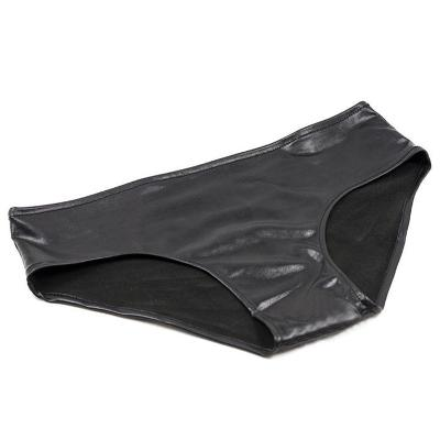 Sexy černé wet-look kalhotky - One Size 07018