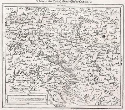 Slovinsko Chorvatsko, S. Münster, dřevořez, (1580)