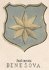 Benešov, chromolitografie, 1880
