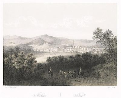 Jičín, Haun, litografie, 1860