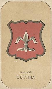 Čestín, chromolitografie, 1880