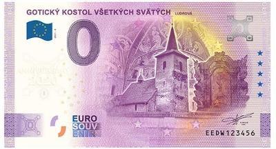 0 Euro souvenir bankovka 2021 KOSTOL LUDROVÁ - Anniversary