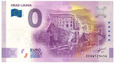 0 Euro souvenir bankovka 2021 HRAD LIKAVA - Anniversary