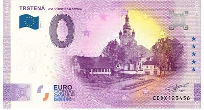 0 Euro souvenir bankovka 2021 TRSTENÁ