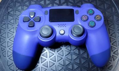Herní ovladač pro Playstation 4 modrá, PS4, aukce od 1,-!