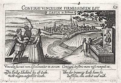 Čáslav, Meissner, mědiryt, 1678
