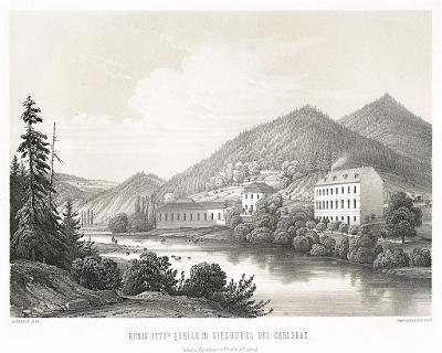 Kyselka -Karlovy Vary, Sandmann,litografie (1860)
