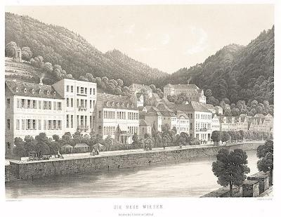 Karlovy Vary, Sandmann,litografie (1860)