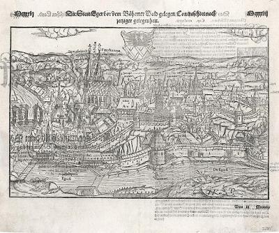 Cheb, S. Münster, dřevořez, (1560)